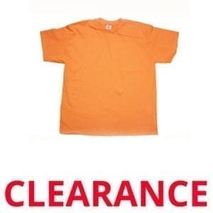 Wholesale Adult Orange T-Shirt (Size Medium)