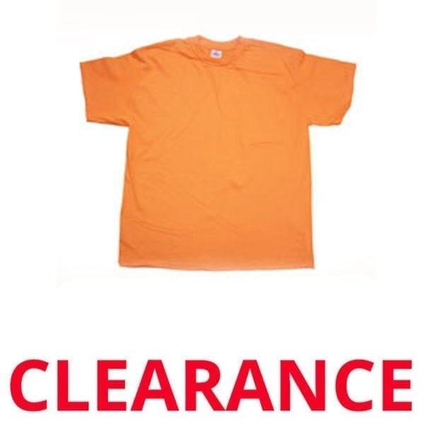 Wholesale Adult Orange T-Shirt (Size Medium)