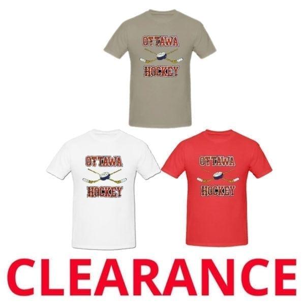Wholesale Youth Crew Neck T-Shirts - Ottawa Hockey