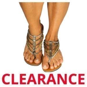 Wholesale Ladies' Metallic Fashion Sandal