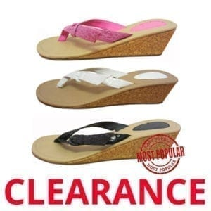 Wholesale Ladies' Fashion Wedge Flip Flop (Size 5-10)
