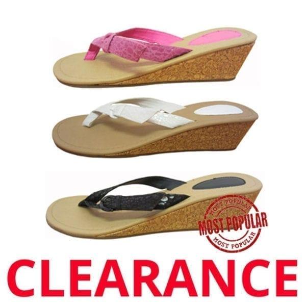 Wholesale Ladies' Fashion Wedge Flip Flop (Size 5-10)