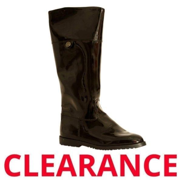 Wholesale Ladies Black Patten Fashion Boot