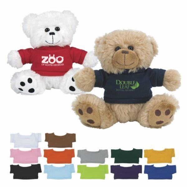 6″ Plush Big Paw Bear with Shirt
