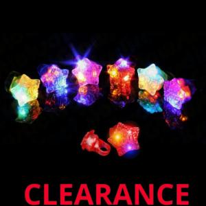 Wholesale LED Flashing Star Jelly Ring