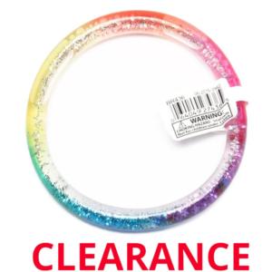 Wholesale Rainbow Liquid Glitter Bracelet