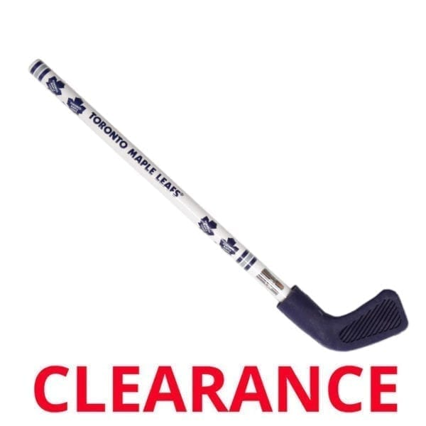 "DETAILS: Wholesale Officially licensed Toronto Maple Leaf Hockey stick pencil with eraser. Show everyone your a fan with this great quality pencil that's perfect for school or work. SIZE: 8.5"" L. COLOUR: White with Toronto Maple Leaf logo. PACKAGING: Comes with preprinted UPC code. CASE PACK: 24 Pieces."