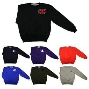 Wholesale Brand Name Champion Adult Heavy Crew Sweatshirts (Size M-XL)