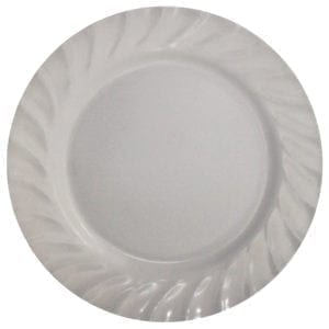 "Wholesale 10"" White Melamine Dinner Plate"