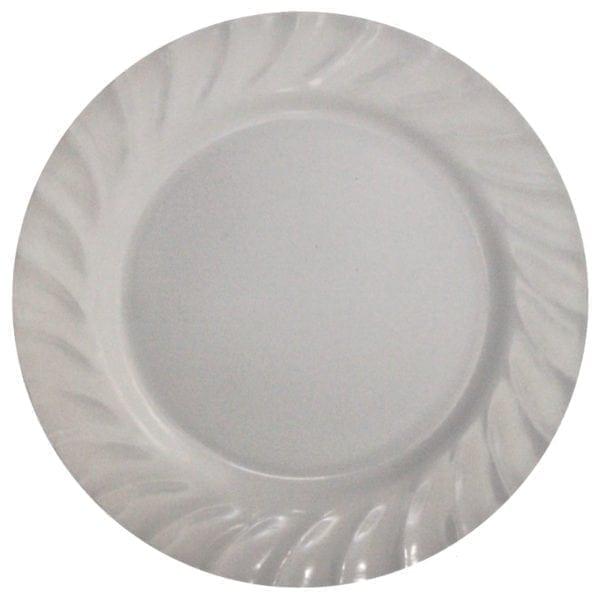 """Wholesale 10"""" White Melamine Dinner Plate"""