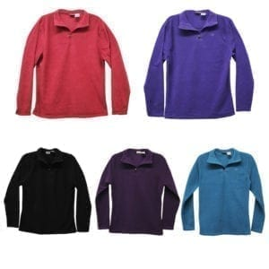 Wholesale Ladies/Youth Polar Fleece Quarter-Zip Sweater (Size S - XXL)