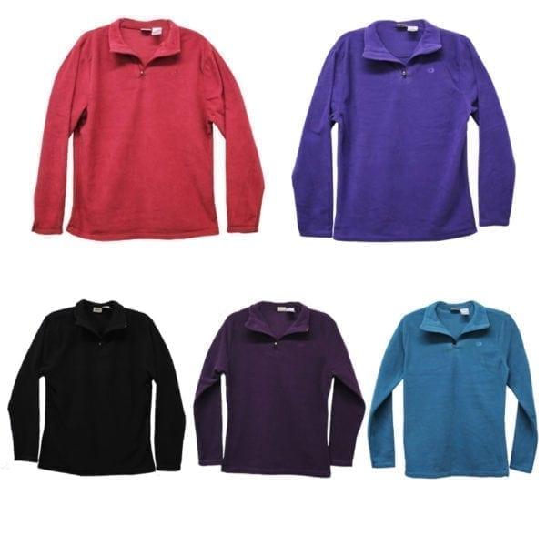 Wholesale Ladies/Youth Polar Fleece Quarter-Zip Sweater (Size S - XXL)
