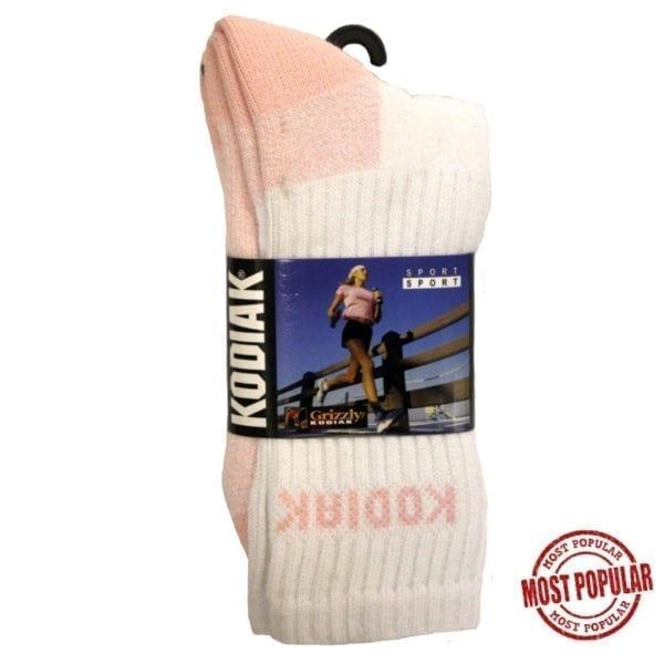 Wholesale Ladies' Brand Name Kodiak Sports Sock 2-Pack (Size 9 - 11)