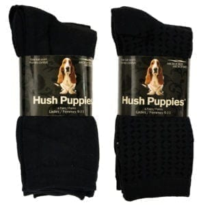 Wholesale Ladies' Brand Name Hush Puppy Microfiber Socks 6-Pack Pack (Size 9 - 11) Black