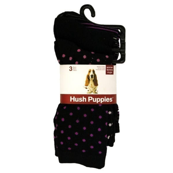 Wholesale Ladies' Brand Name Hush Puppy Dress Socks 3-Pack (Size 9 - 11)