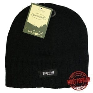 Wholesale Adult Lined Toque - Black