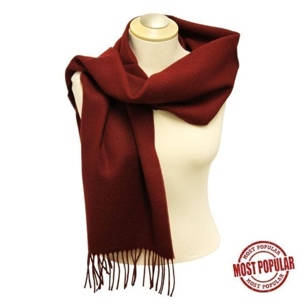 Wholesale Adult Solid Burgundy Fringe Scarf
