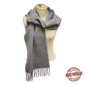 Wholesale Adult Solid Light Grey Fringe Scarf