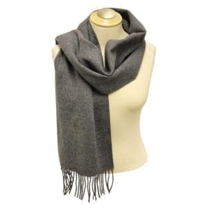 Wholesale Adult Solid Medium Grey Fringe Scarf