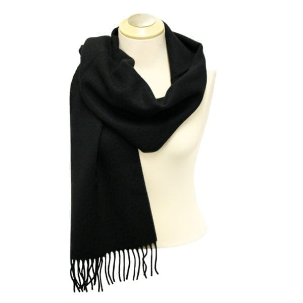 Wholesale Adult Solid Black Fringe Scarf