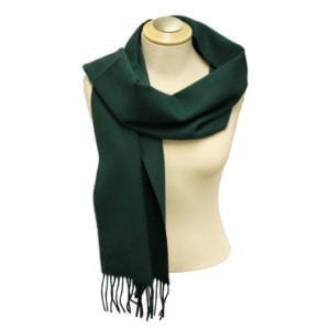 Wholesale Adult Solid Bottle Green Fringe Scarf