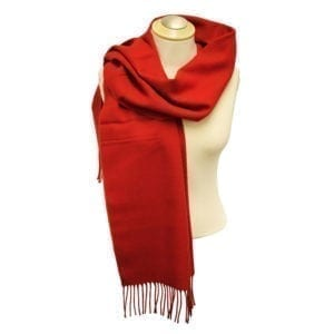 Wholesale Adult Solid Red Fringe Scarf