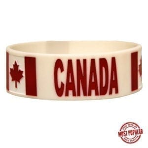Wholesale Embossed Canada Silicone Bracelets
