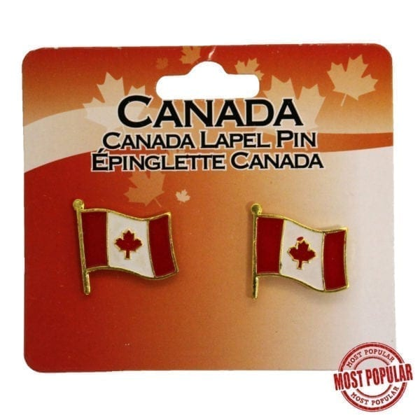 Wholesale Canada Flag Lapel Pins - 2-Pack