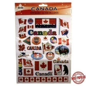 Wholesale Large Multi-Pack Canada Stickers