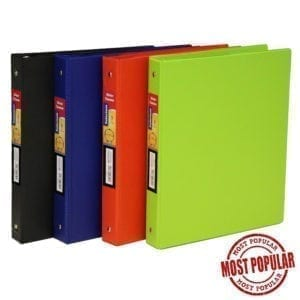 "Wholesale 1"" Binder - Assorted Colours"