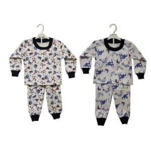 Wholesale Boys' Two Piece Flannel Pajama Sets