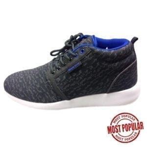 Wholesale Men's Grey Knitted Lace Athletic Shoe (Size 7-12)