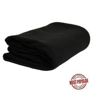 "Wholesale Black Polar Fleece Blankets (60"" x 80"")"