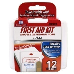 Wholesale First Aid Kit With Plastic Case (12-Pieces)