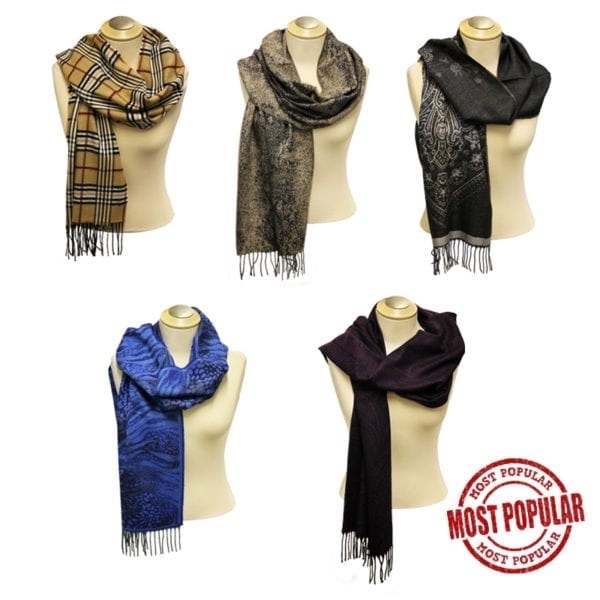 Wholesale Ladies' Pattern Fringe Scarves