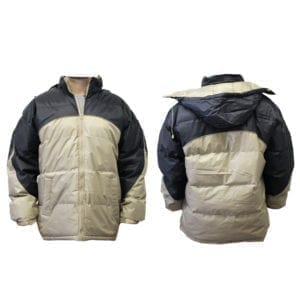 Wholesale Men's Two-Tone Winter Jacket (Light Grey/Taupe) (Sizes S - XL)
