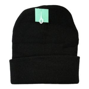 Wholesale Adult Cuffed Toque - Black