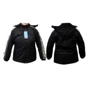 Wholesale Ladies' Black Winter Jacket (Sizes S - 2XL)