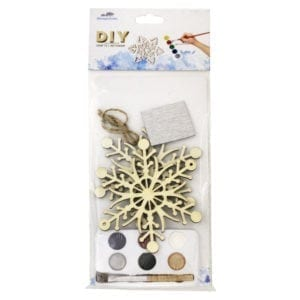 Wholesale DIY Wooden Christmas Snowflake Ornament - 2-Pack