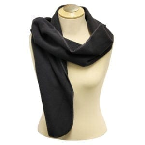"Wholesale Charcoal Polar Fleece Scarf (12"" X 63"")"