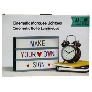 Wholesale Cinematic Lightbox With Coloured Letters