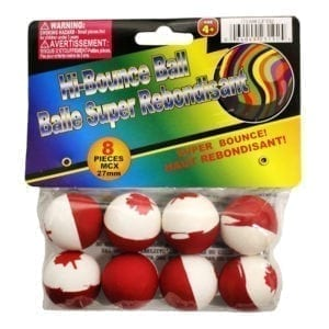 Wholesale 8-Pack Canada Flag Bouncy Balls