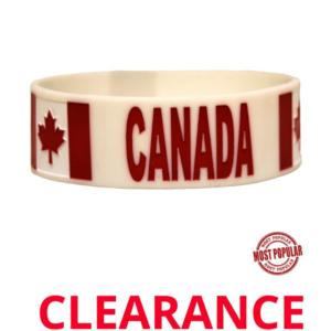Wholesale Embossed Canada Silicone Bracelets