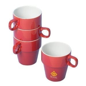 Custom Stacking Stoneware Mugs - 300ML