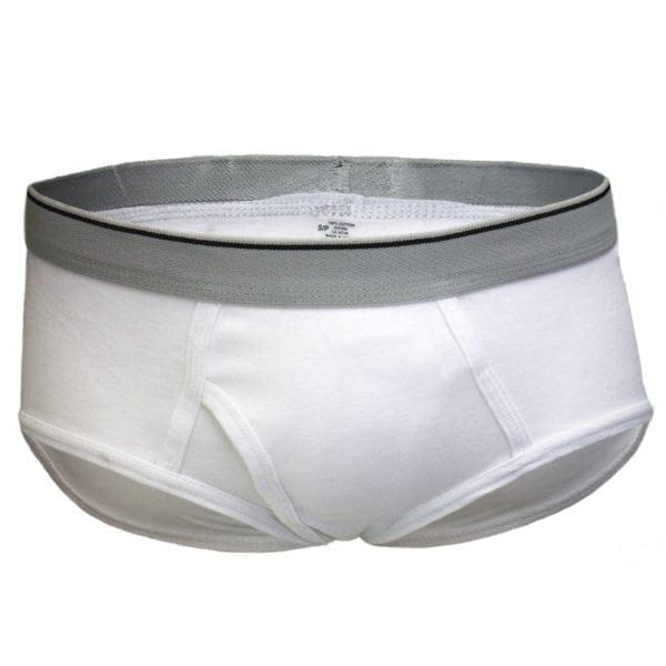 Wholesale Men's White Basic Briefs (Size S - XL)