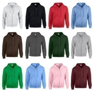 Wholesale Men's Hoodies - Full Zip (Size 3XL - 5XL)