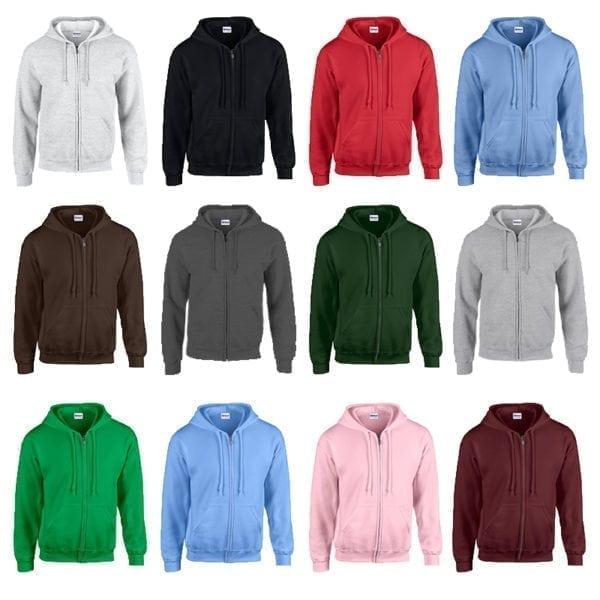Wholesale Men's Hoodies - Full Zip (Size 3XL - 5XL)