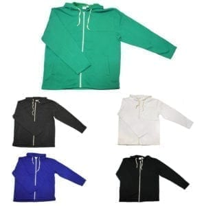 Wholesale Men's Hoodies - Full Zip (Size S-2XL)