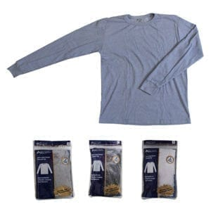 Wholesale Men's Long Sleeve Waffle Knit Top (S-XL)