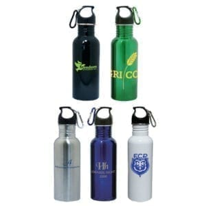 Custom Stainless Steel Water Bottle With Carabiner (24 oz)
